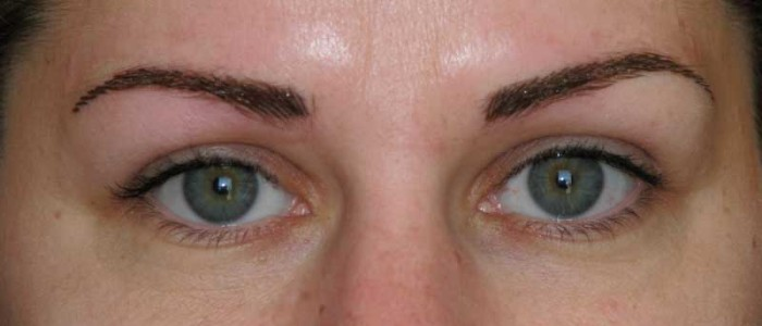 Microblade eyebrows picture.