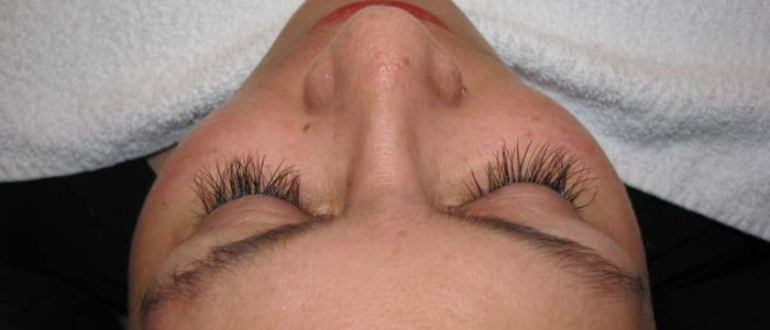 Eyelash extensions, after picture.