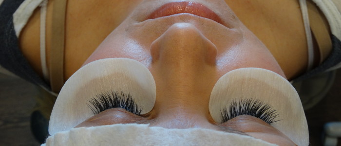After eyelash extensions at MPi.