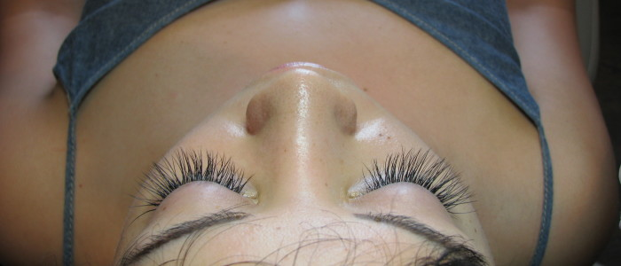 After lash extensions.