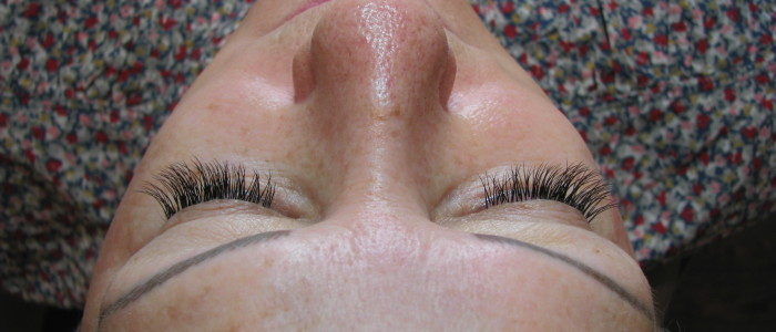 After eyelash extensions.